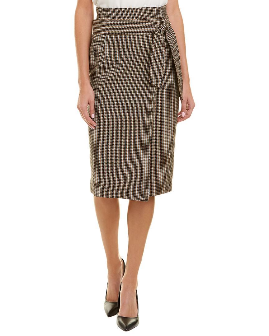 3ef11843a5 ESCADA Wool Pencil Skirt in Brown - Save 61% - Lyst