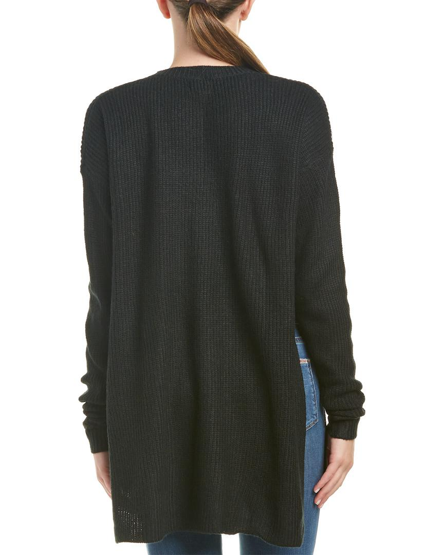 Six crisp days Side Slit Tunic Sweater in Black | Lyst