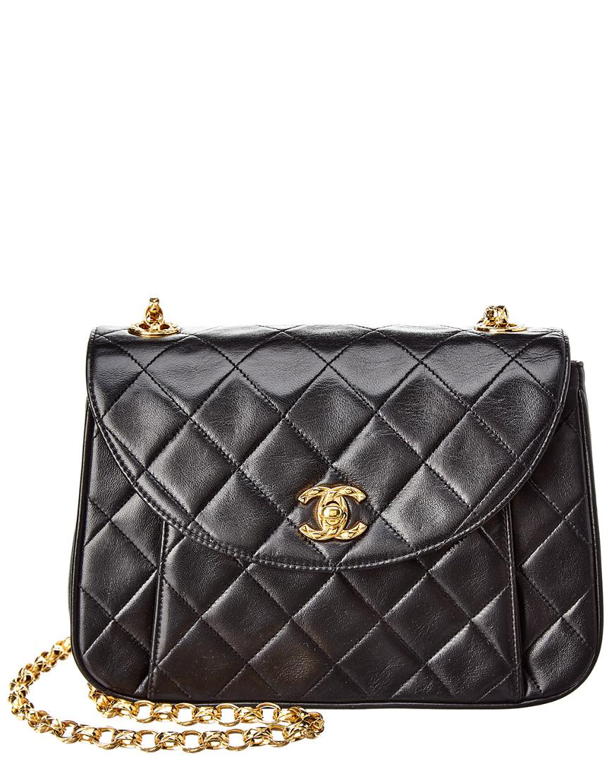 Lyst - Chanel Black Quilted Lambskin Leather Camera Bag in Black 626228786596e