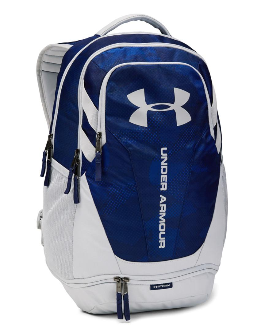 e2dd53324a49 Under Armour - Blue Ua Hustle 3.0 Backpack for Men - Lyst. View fullscreen