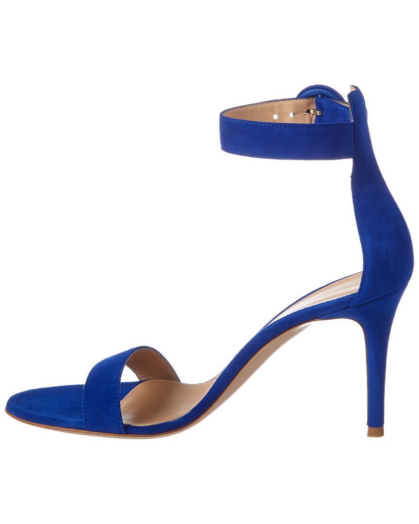 f60f424fca2 Lyst - Gianvito Rossi Portofino 85 Suede Sandal in Blue