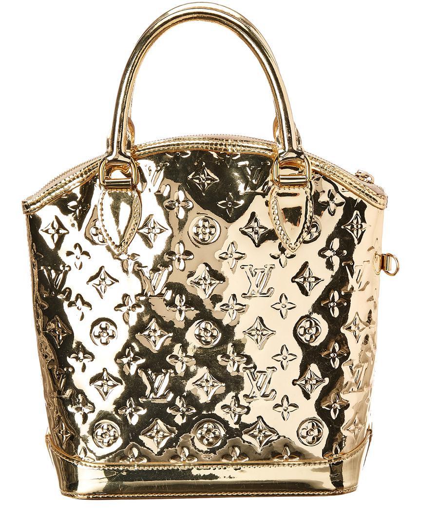 46bc171c96f3 Lyst - Louis Vuitton Limited Edition Gold Monogram Miroir Leather ...