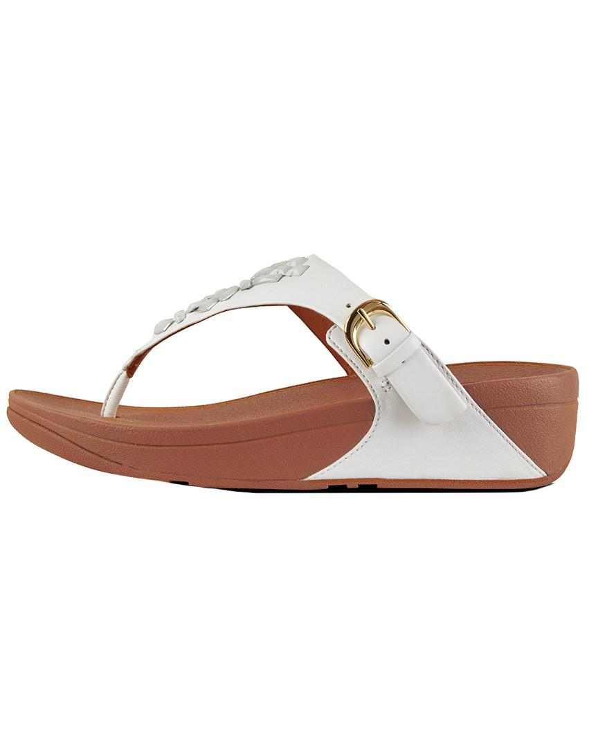 254995bcf1d7 Lyst - Fitflop Skinny Toe-thong Leather Sandal - Save 50%