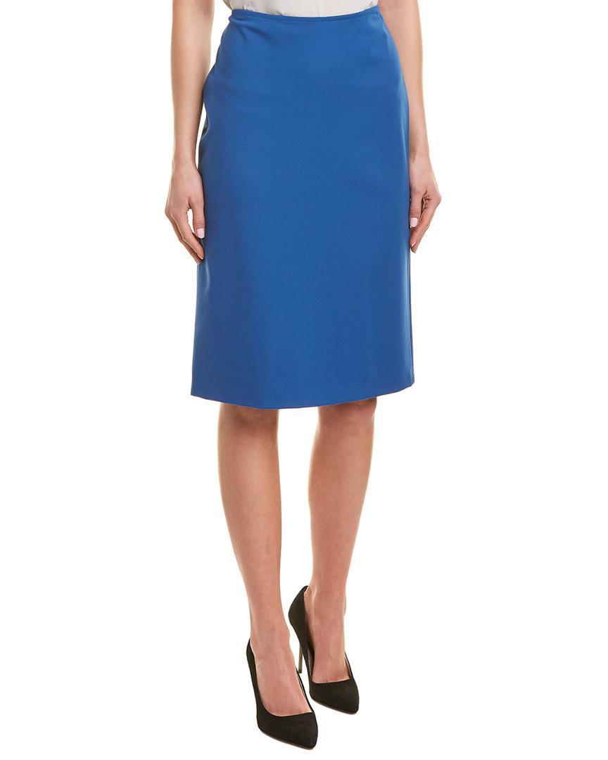 0e22f1879b78f Lyst - Lafayette 148 New York Slim Pencil Skirt in Blue
