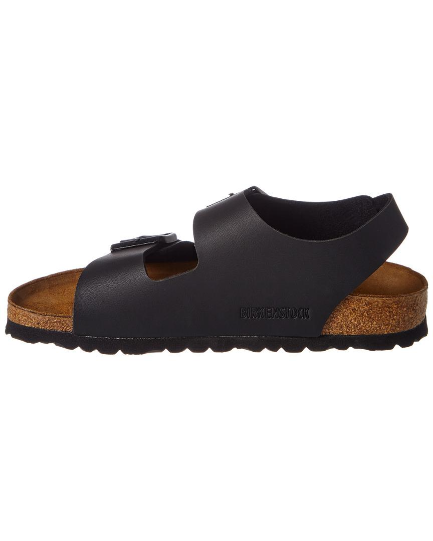 b3a34fc3f95 Lyst - Birkenstock Milano Birko-flor Leather Narrow Sandal in Black