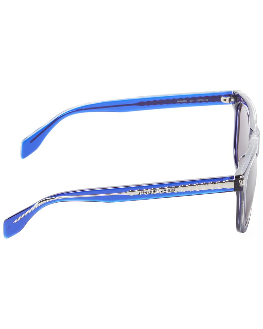 17323b0a547 Alexander Mcqueen Skull Wayfarer Frame in Blue for Men - Lyst