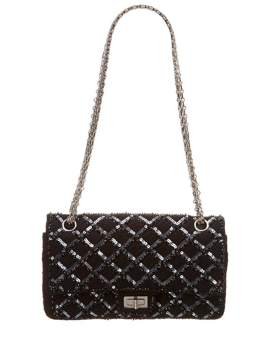 d6a3b0df8457 Chanel. Women's Limited Edition Black Sequins Medium 2.55 Reissue ...