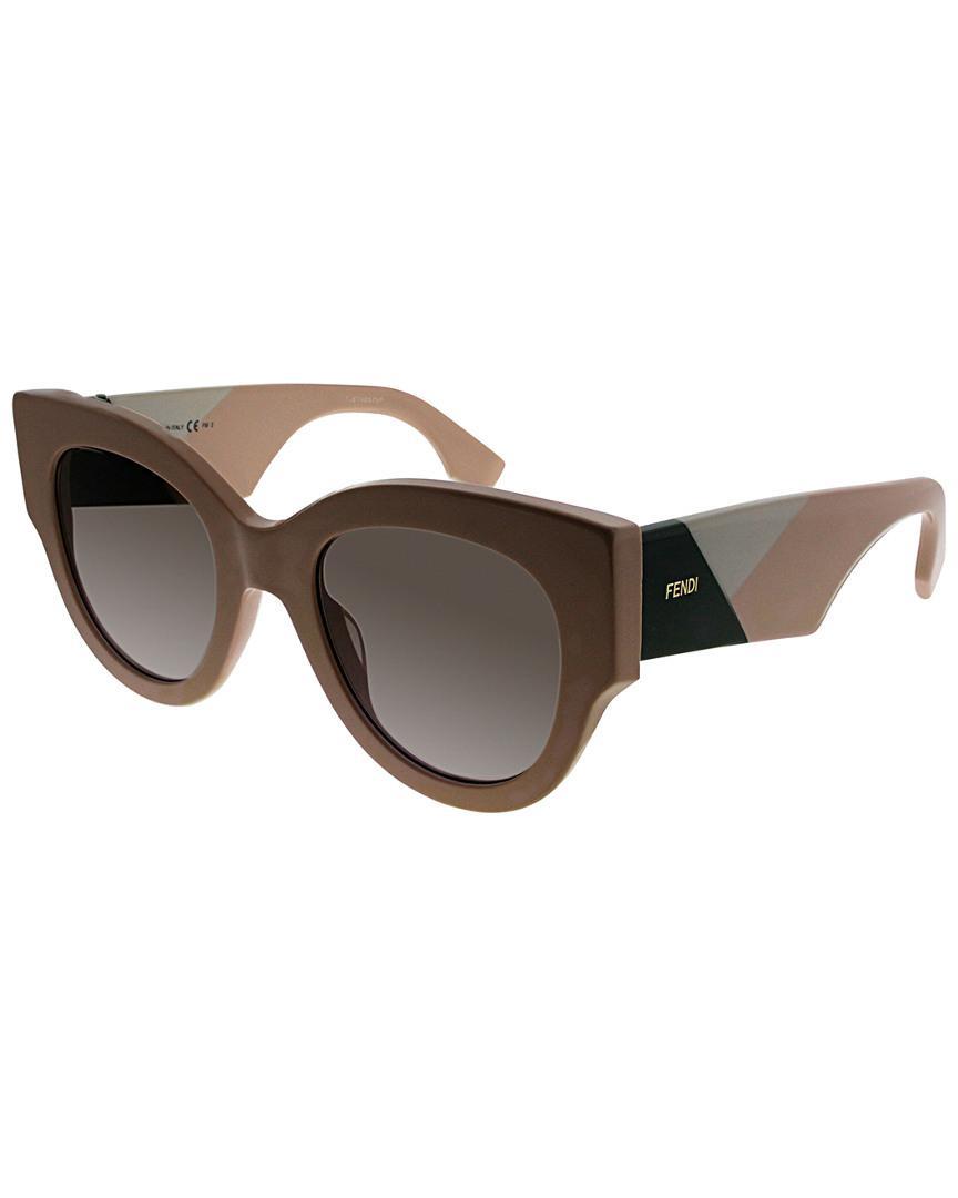 55dcc4944dc Lyst - Fendi Women s Ff0264 s 51mm Sunglasses in Brown