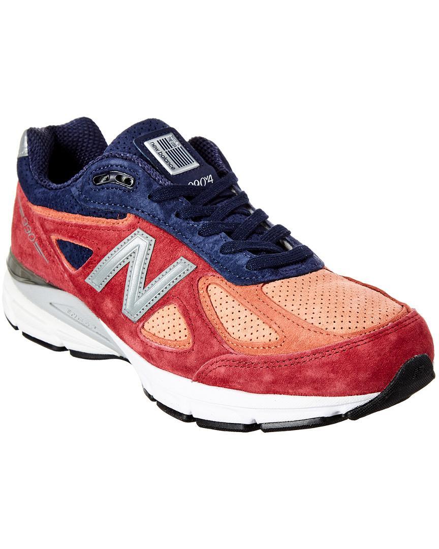 c2a9b56717160 New Balance - Blue 990 V4 Suede Sneaker for Men - Lyst. View fullscreen