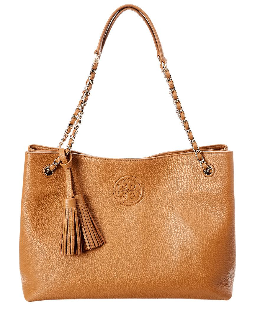 30462c87d1f9 Lyst - Tory Burch Bombe Leather Top Handle Tote in Black - Save 1%