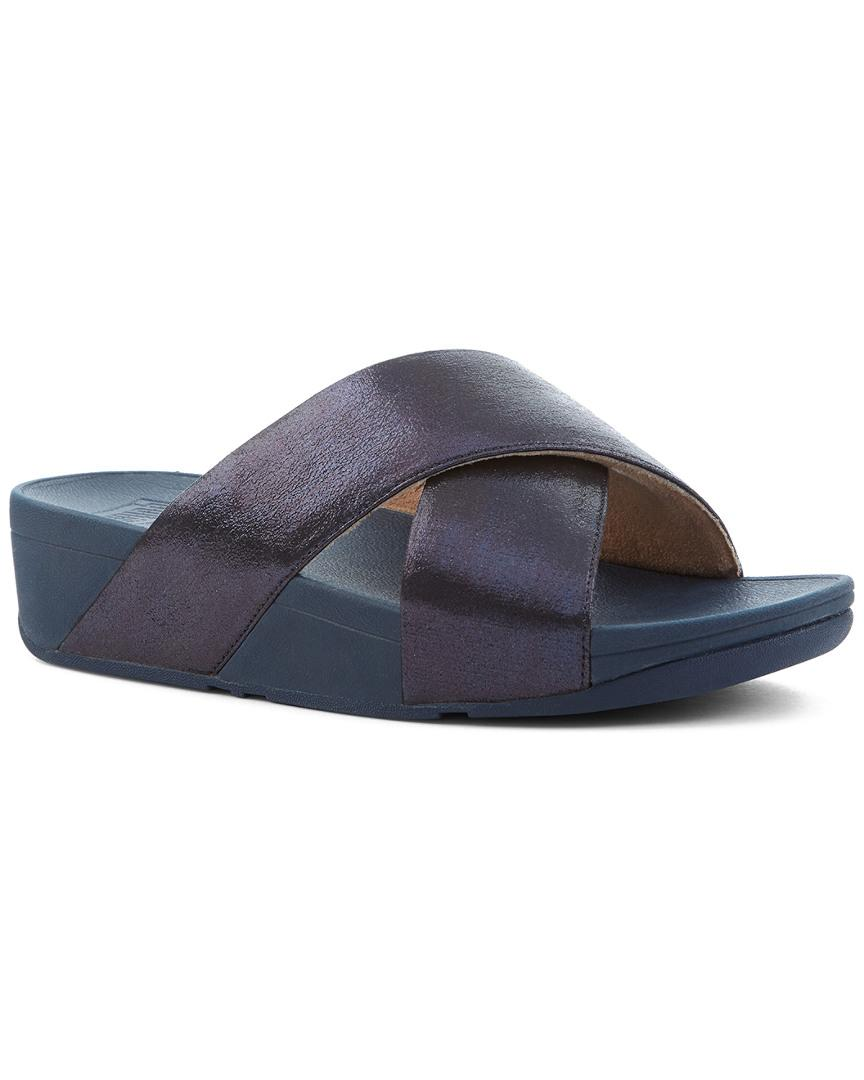 0fdc31f6c729 Fitflop. Women s Blue Lulu Cross Glitz Slide.  90  60 From Rue La La