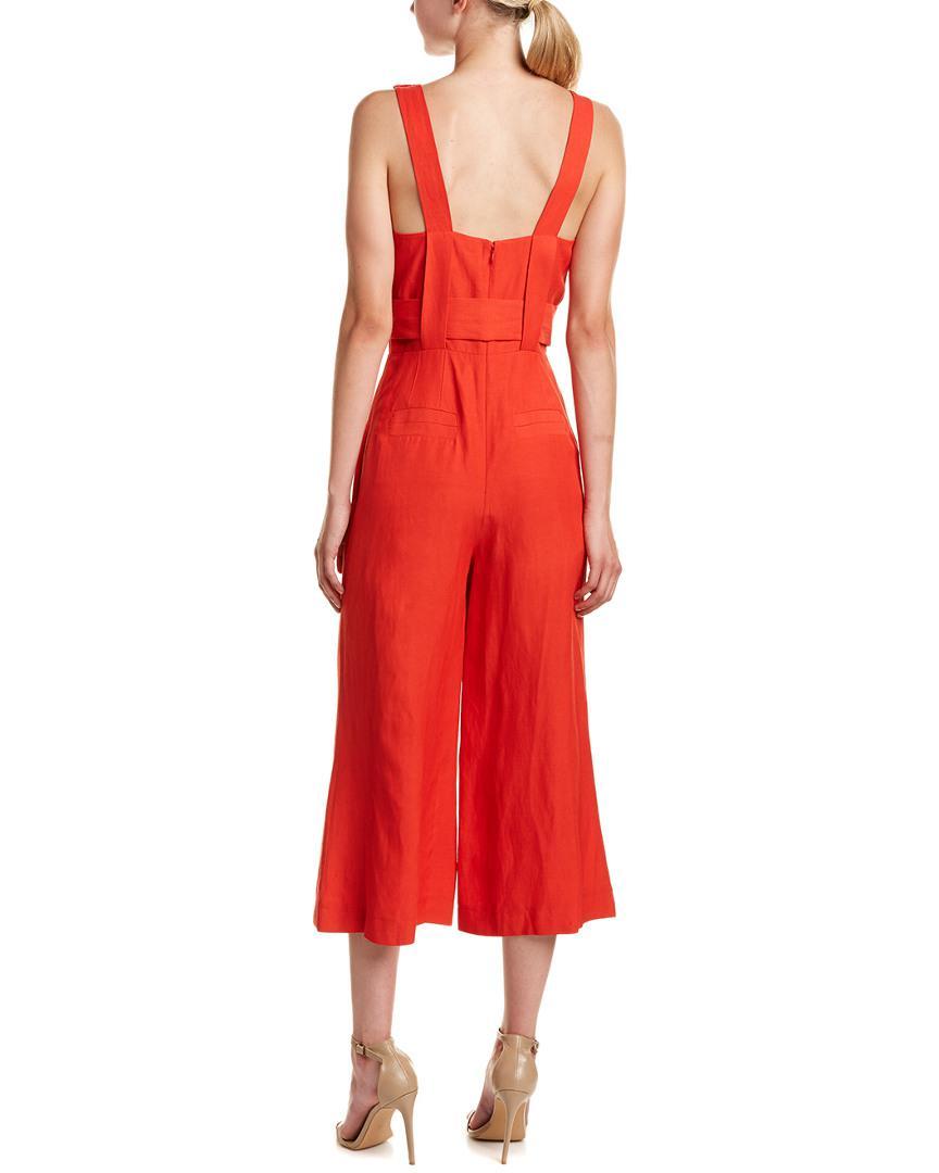 75ed5697650 Lyst - 10 Crosby Derek Lam Linen-blend Jumpsuit in Red