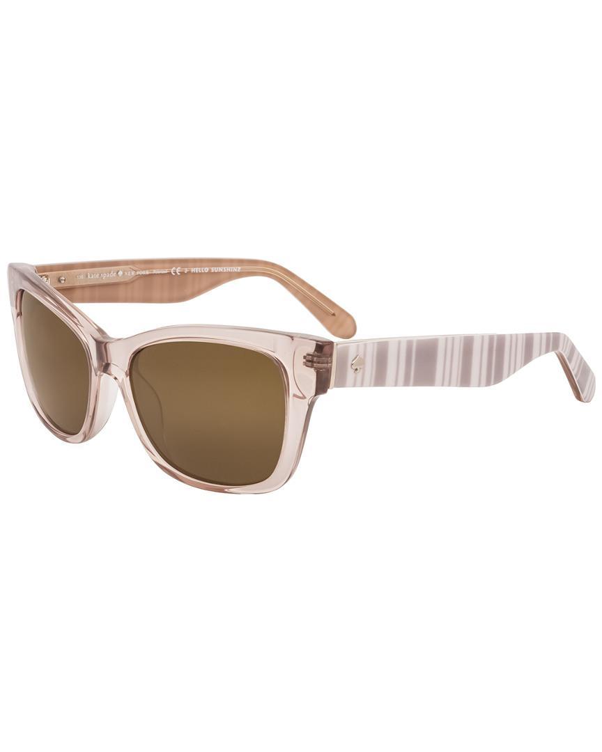 6fb50c4edf4 Lyst - Kate Spade New York Women s Alora p s 53mm Polarized Sunglasses