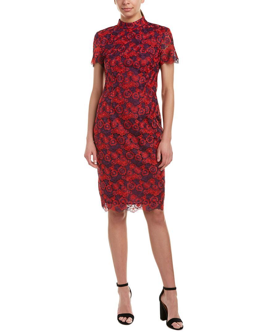 d63c2d509b6d98 Lyst - Trina Turk Flashy Sheath Dress in Red - Save 35%