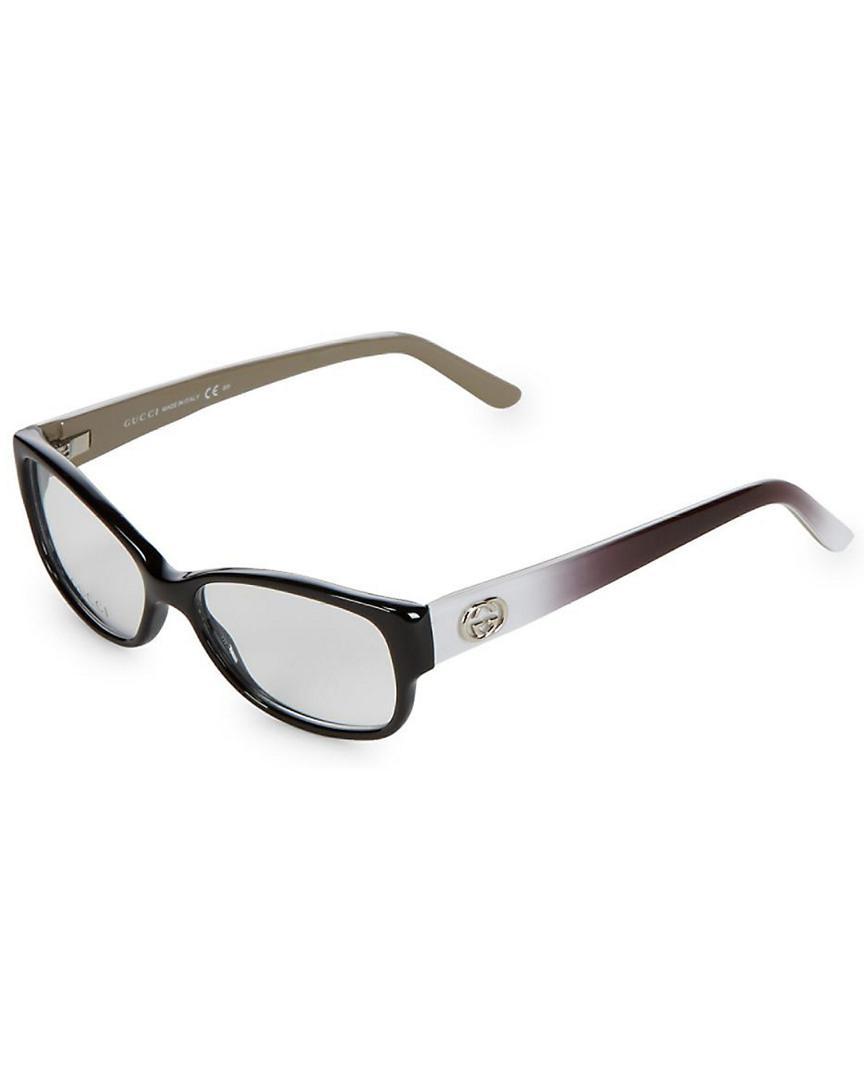 a6eb3f4594d20 Gucci 51mm Cat-eye Optical Frames in Black - Lyst