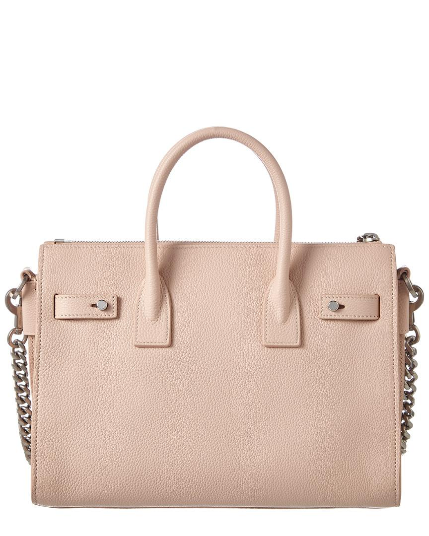 fd51a8bfba1f Saint Laurent Baby Sac De Jour Supple Leather Tote in Pink - Save 34% - Lyst