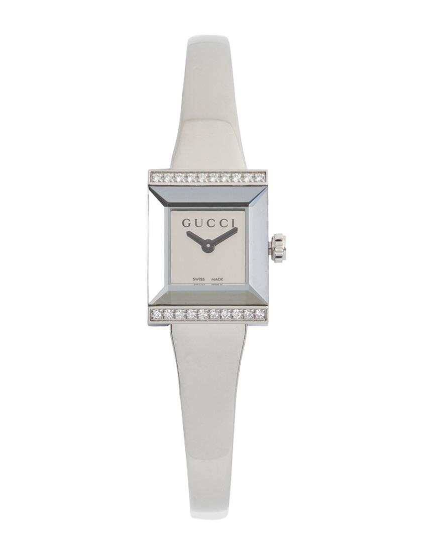 ad52097cb5a Gucci  g-frame  Diamond Watch - Lyst