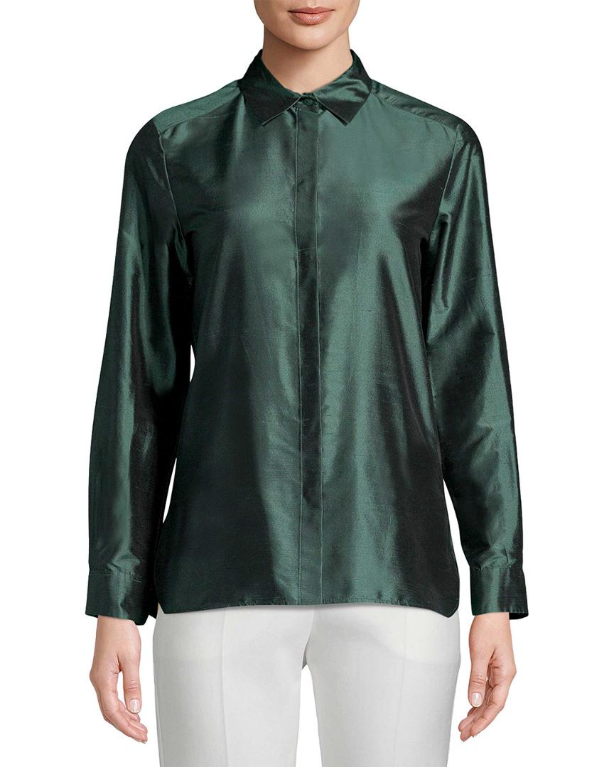 3f07b807b933e5 Max Mara Silk Blouse in Green - Save 49% - Lyst