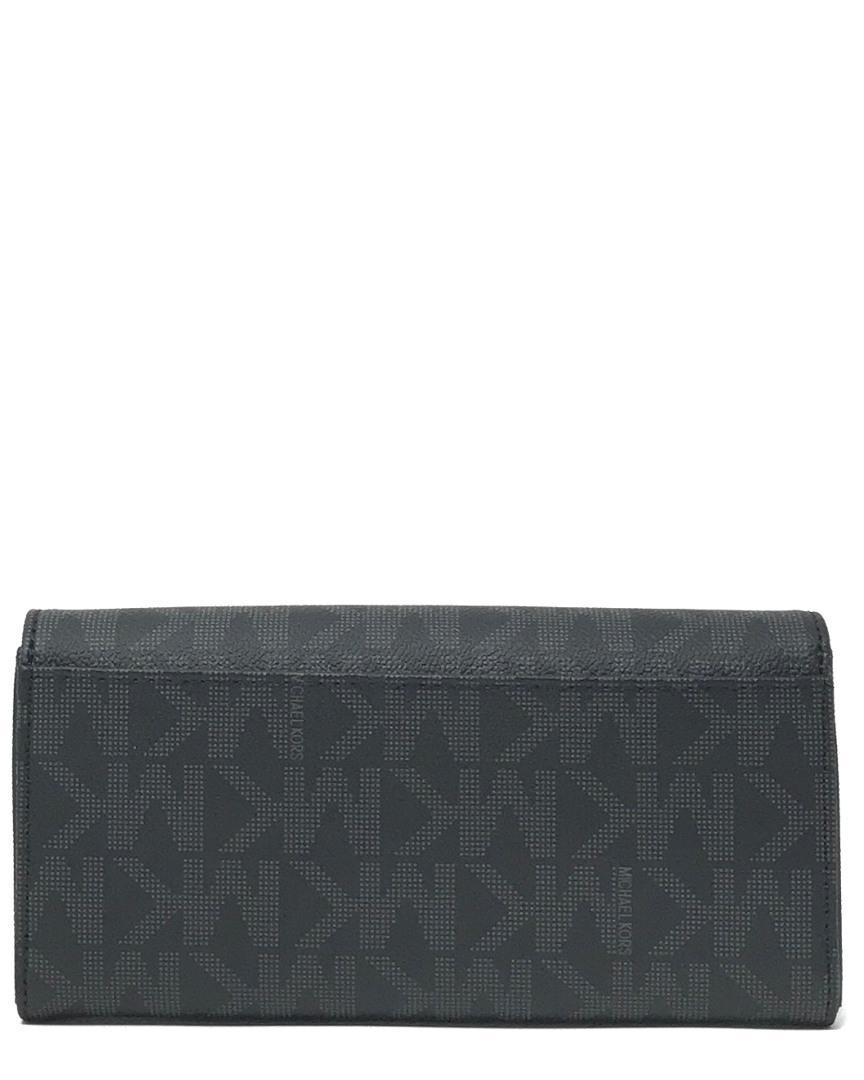 6d248f89b7a6 Michael Michael Kors Signature Fulton Carryall Wallet in Black - Lyst