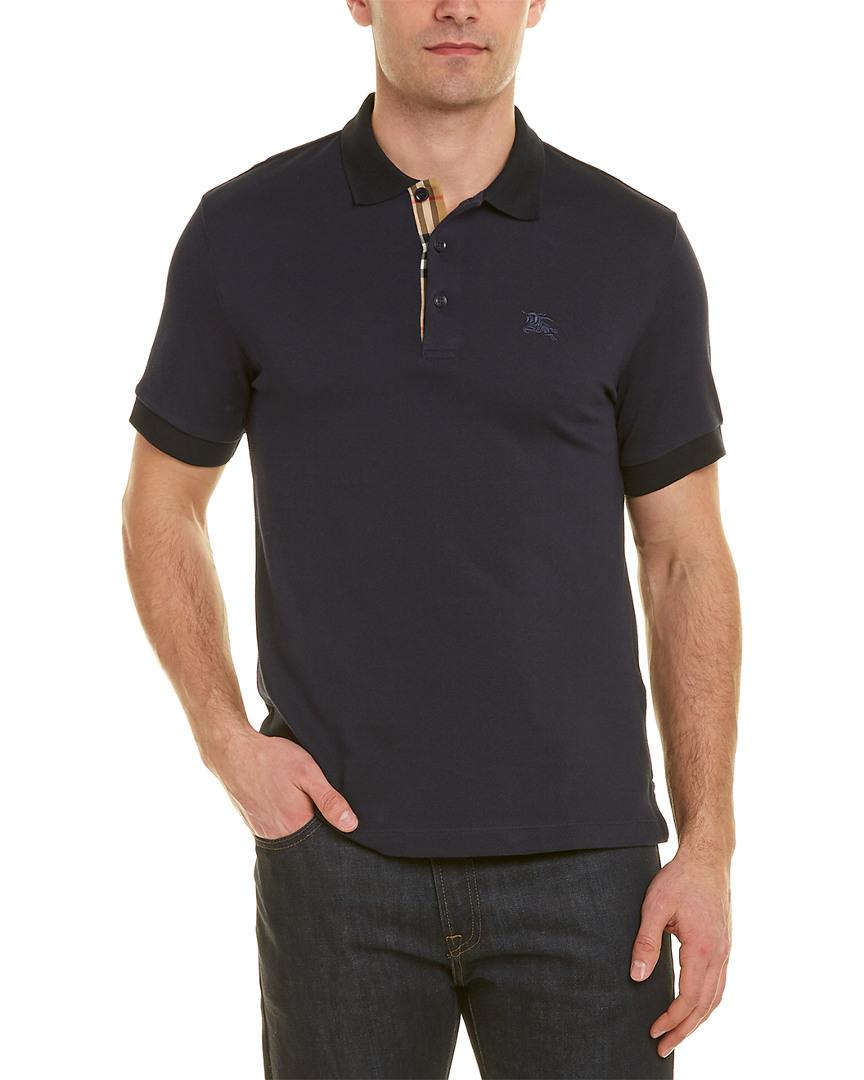 00f21f97c Lyst - Burberry Polo Shirt in Blue for Men