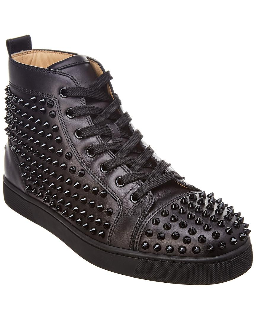 e7835aa04cc1 Lyst - Christian Louboutin Louis Leather High-top Sneaker in Black ...