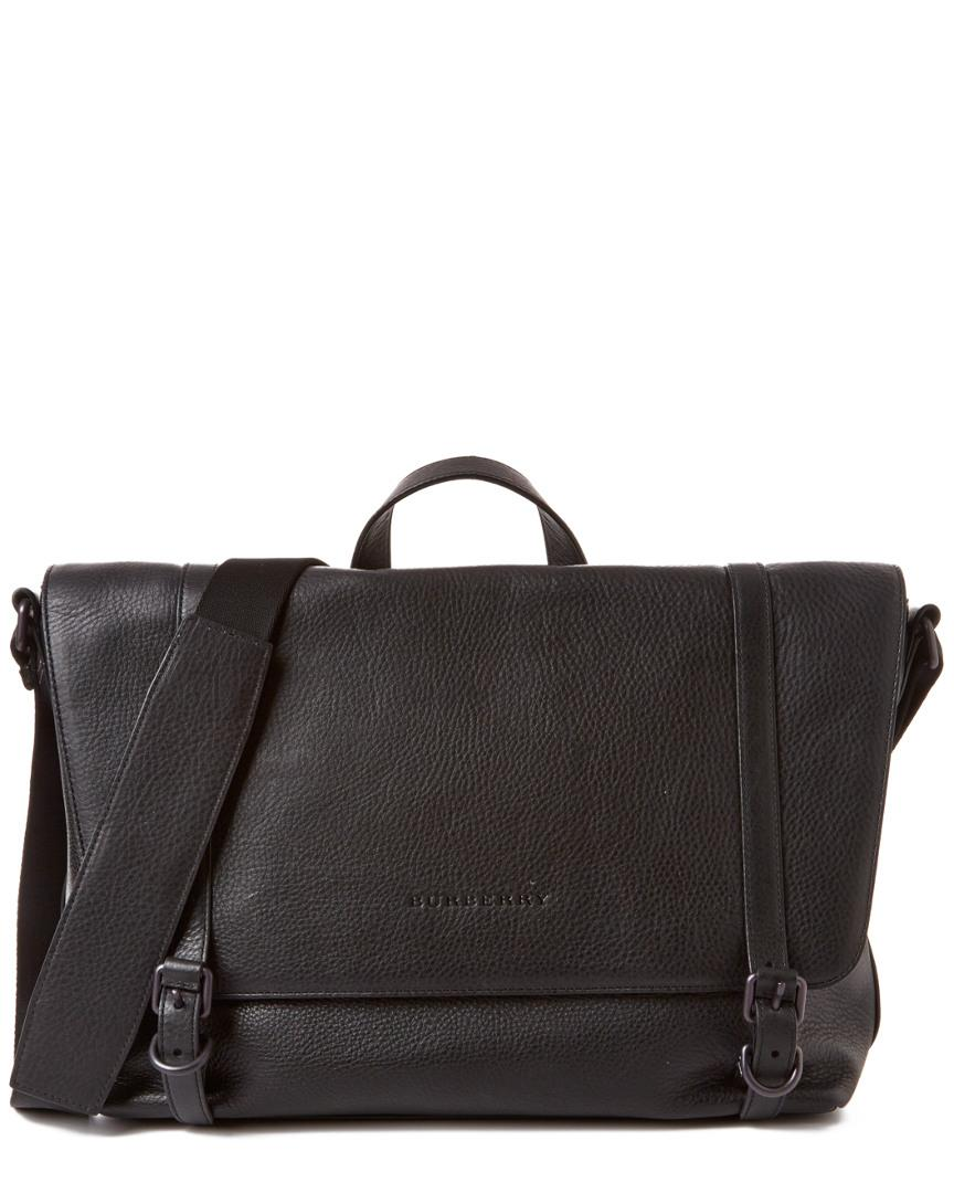 8187efe3fb2e Lyst - Burberry Foster Leather Messenger in Black for Men