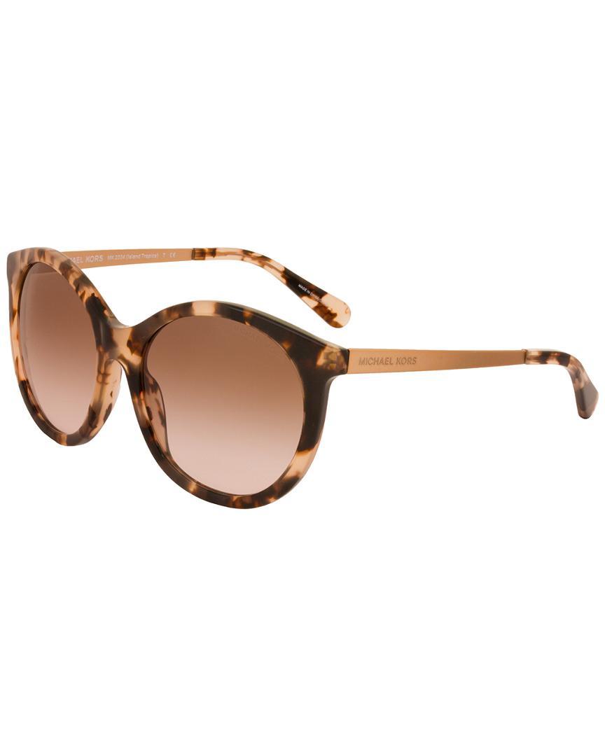 eeb8fa0f8e Michael Kors - Brown Mk2034 55mm Sunglasses - Lyst. View fullscreen