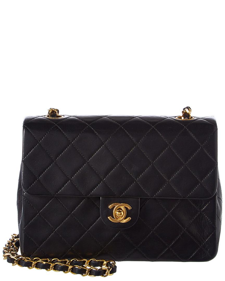 dd2bfc2dfdb8df Chanel Black Quilted Lambskin Leather Small Half Flap Bag In