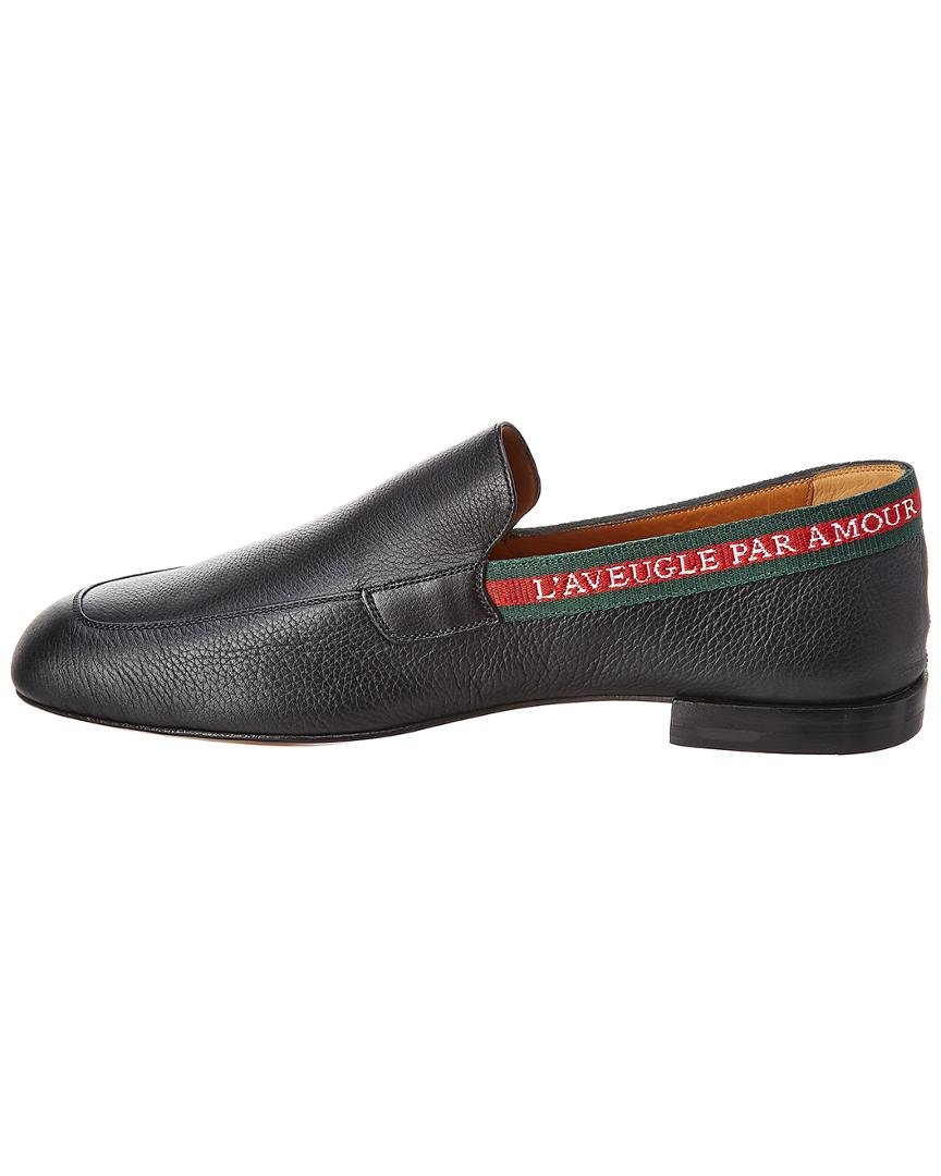 1b9878c7a52 Gucci L aveugle Par Amour Leather Loafer in Black for Men - Save  0.634249471458773% - Lyst