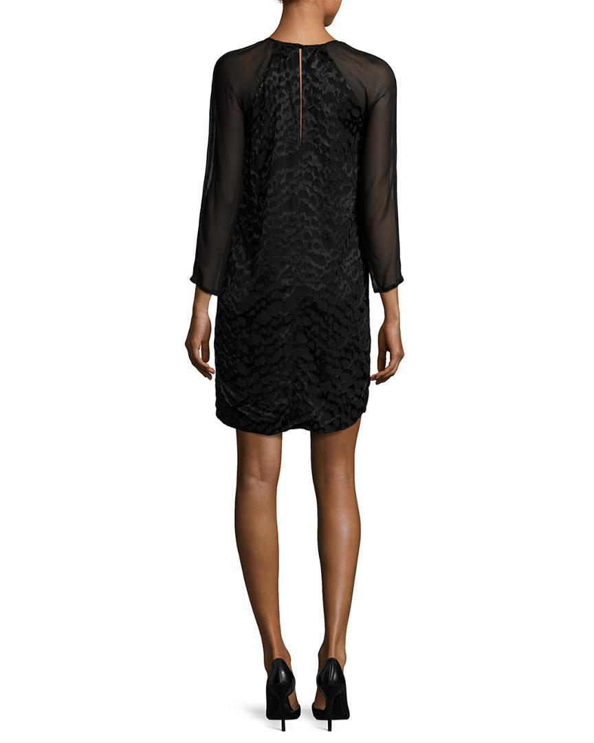 e128833323f07 Lyst - French Connection Fast Aria Jacquard Tunic Dress in Black