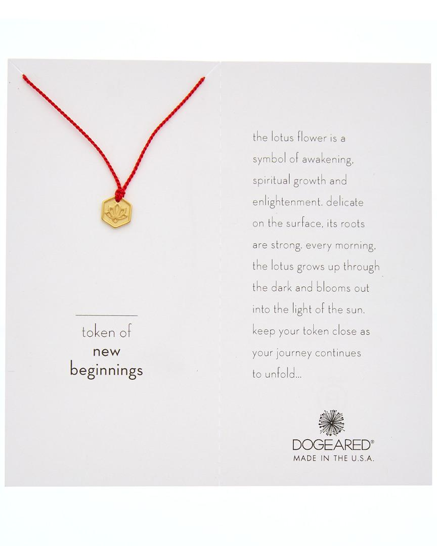 Lyst Dogeared 14k Gold Over Silver Token Of New Beginnings