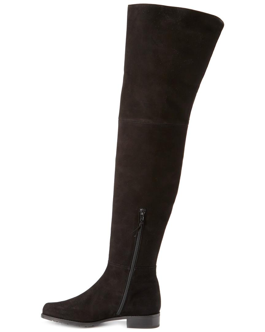 b27890e8791 Lyst - Stuart Weitzman Hilo Suede Over-the-knee Boot in Black