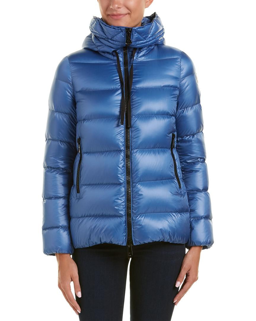 088a4b65fe2c Lyst - Moncler Serinde Hooded Quilted Jacket in Blue