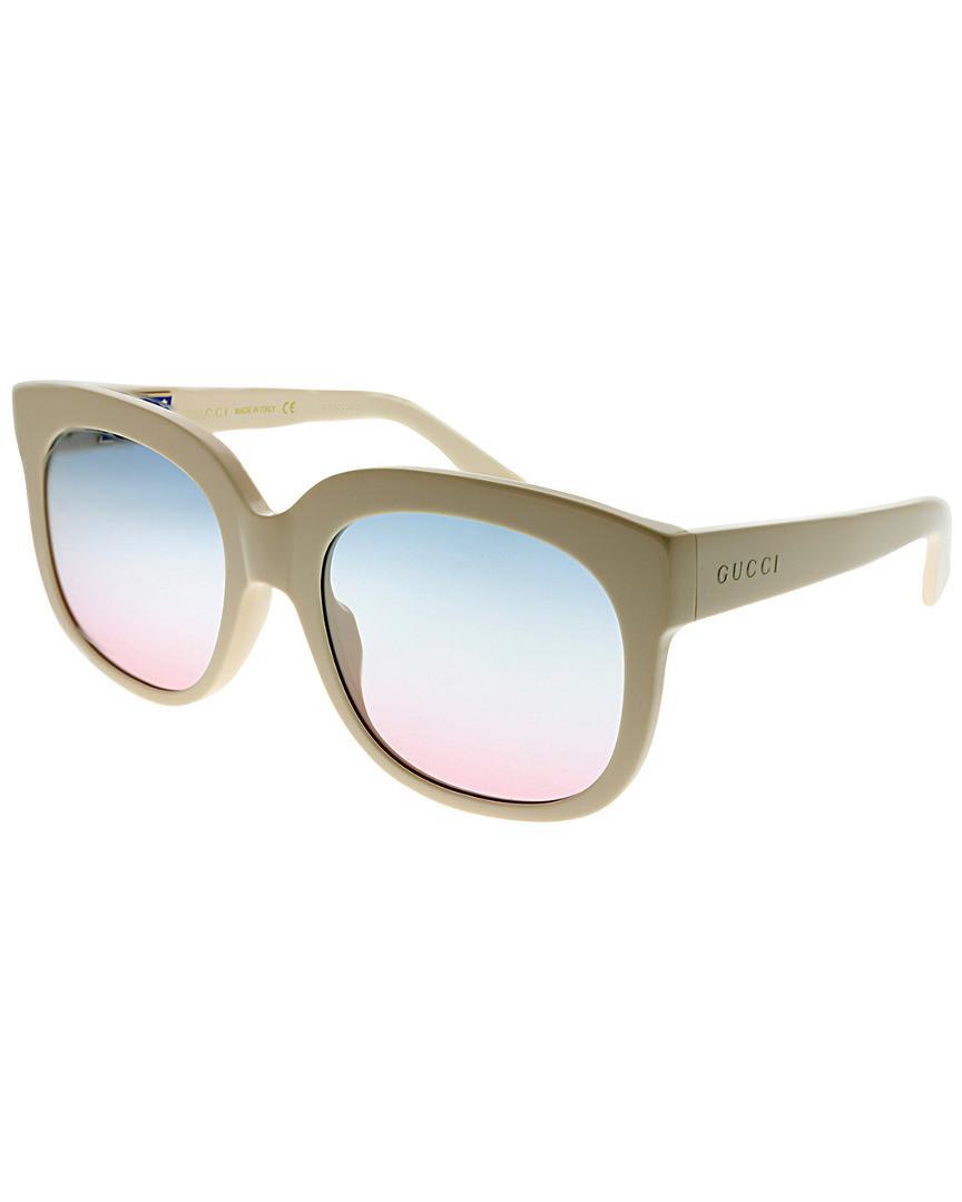 353ed5c0b1 Gucci Rectangular 56mm Sunglasses - Lyst