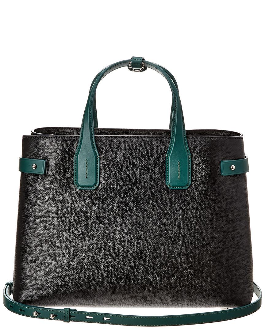 Lyst - Burberry The Medium Banner In Two-tone Leather in Black - Save  43.39975093399751% a0fc3f2c0d