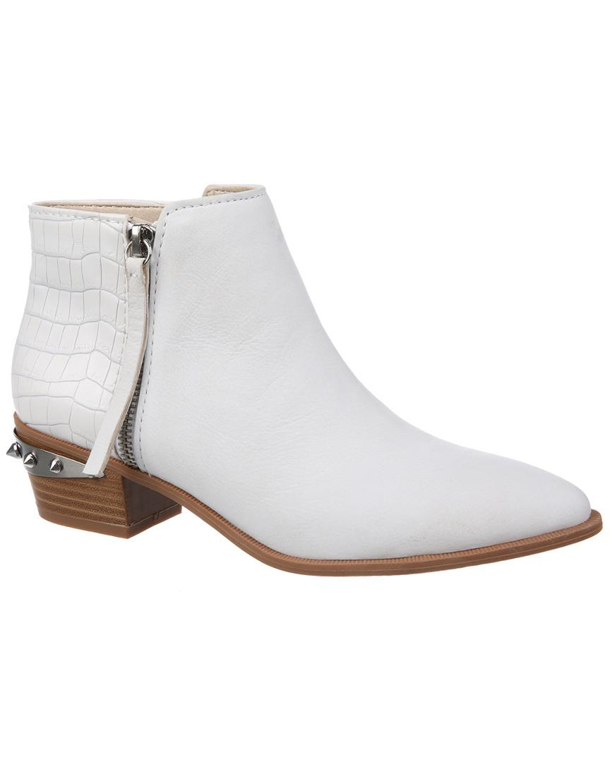 e393e7dbf2db15 Lyst - Circus by Sam Edelman Holt 2 Leather Bootie in White
