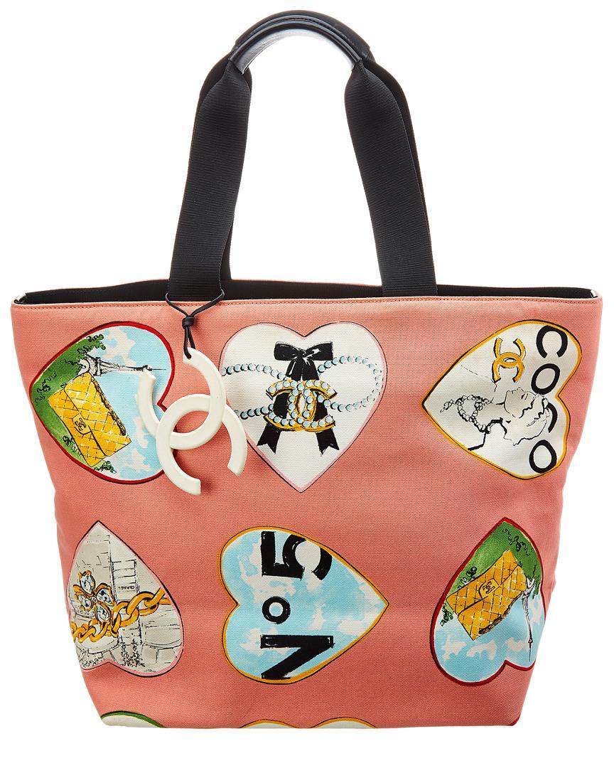 da93f0f6580d Chanel. Women's Pink Canvas Coco Heart Tote
