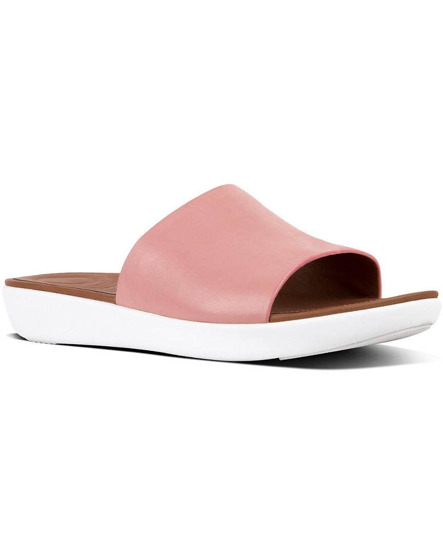 a9060fd24aca Fitflop Sola Leather Slide in Pink - Save 7% - Lyst
