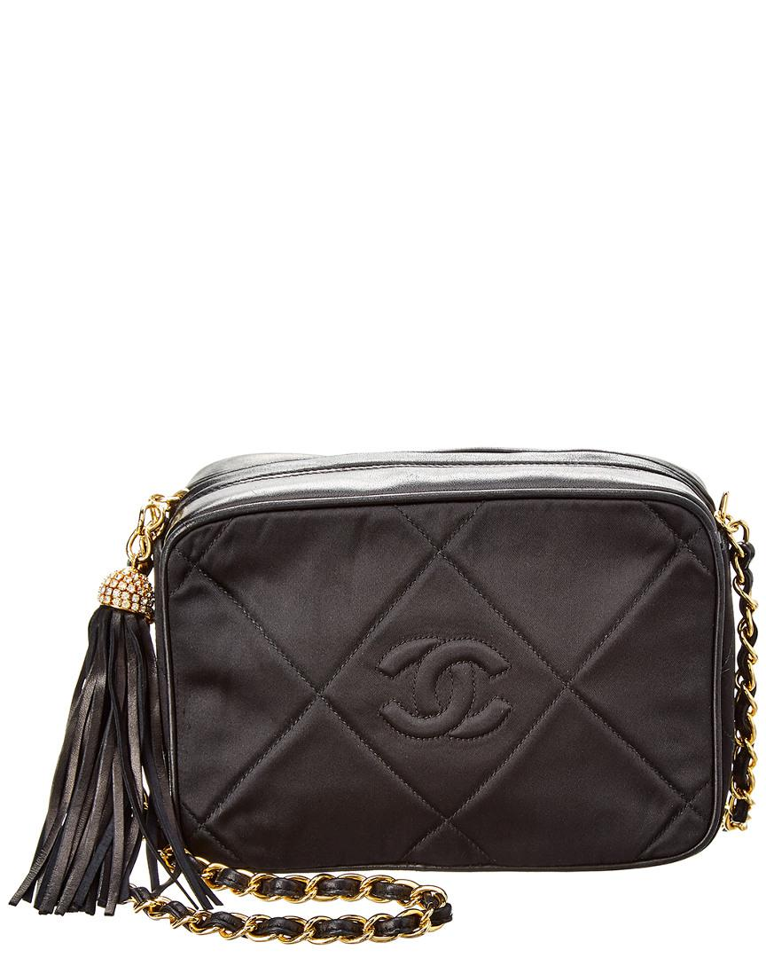 Lyst - Chanel Black Satin Mini Camera Bag in Black 453c54d9a76b1