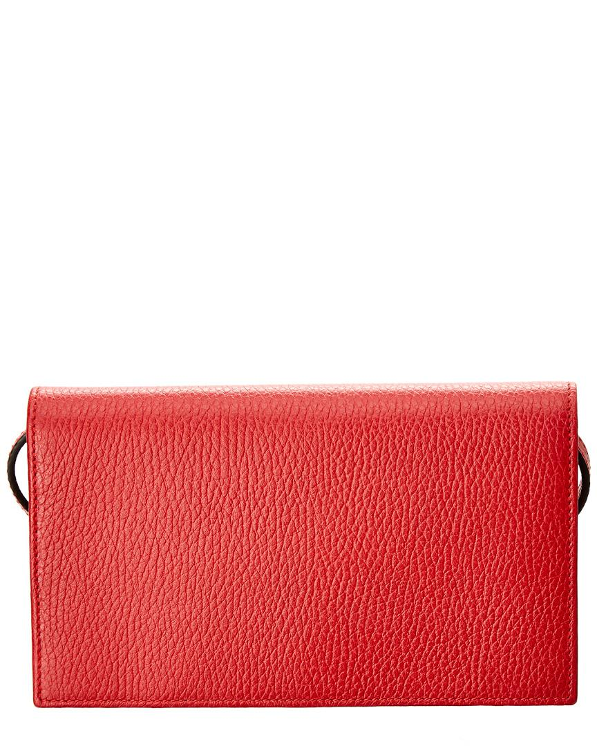 30ecb683a2b Gucci Red Leather Swing Wallet in Red - Lyst