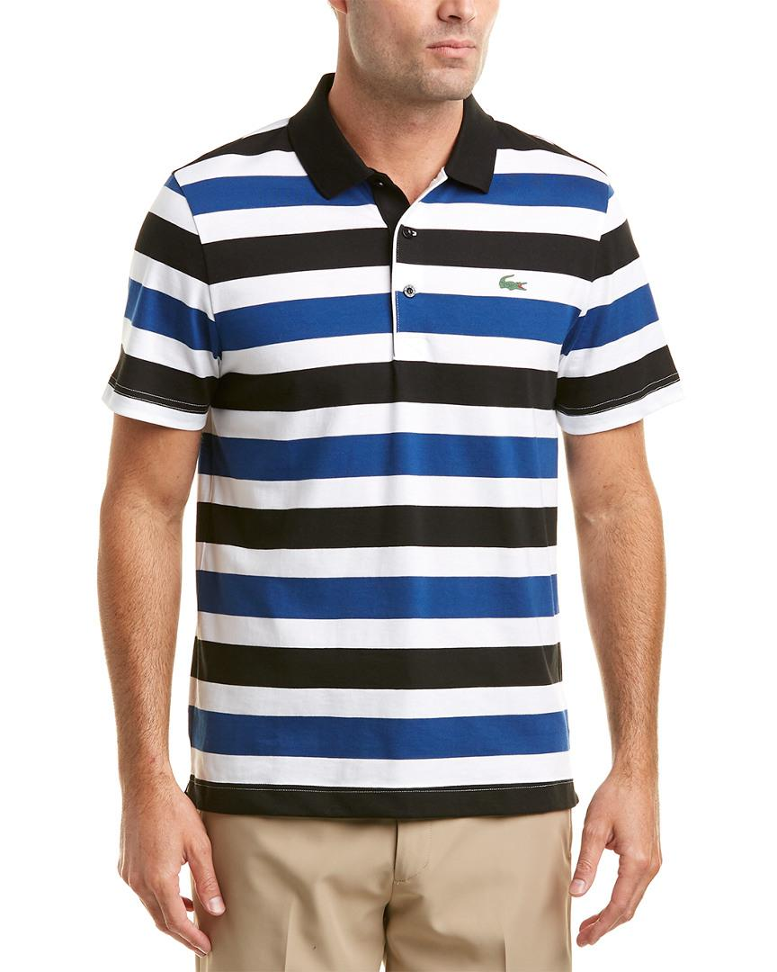 Lacoste Sport Jersey Raye All Over Stripes Polo in Blue for Men ... c748be84a2c7