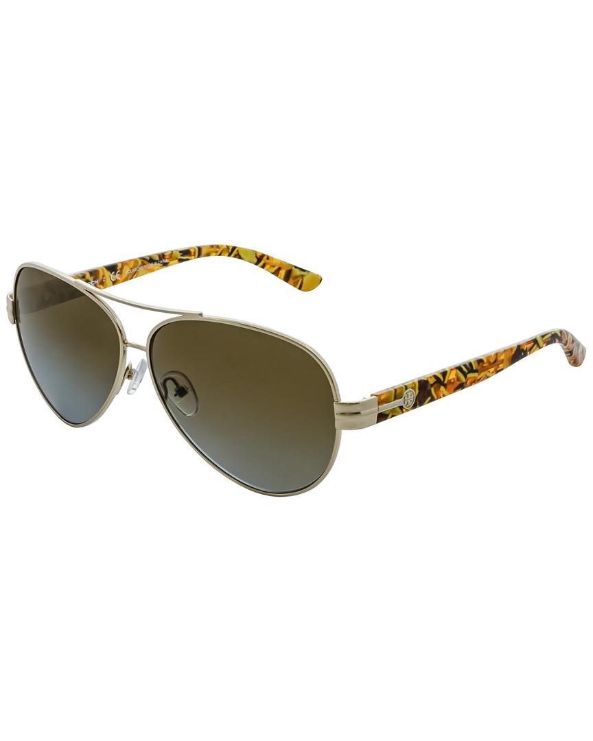 fe5fc224816 Lyst - Tory Burch Women s Ty6031 59mm Sunglasses in Brown