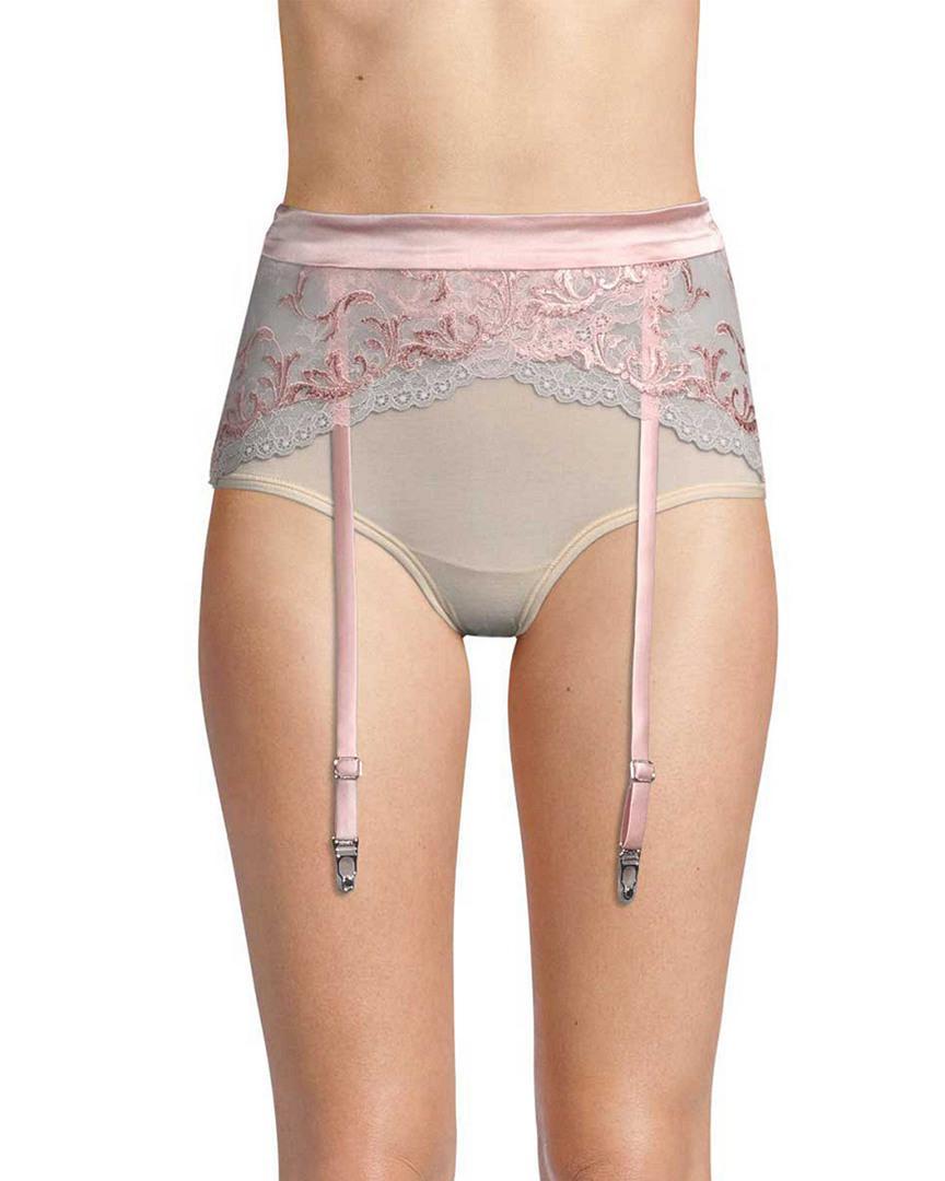4eff88d42ef Lyst - La Perla Floral Lace Garter Belt in Pink - Save 27%