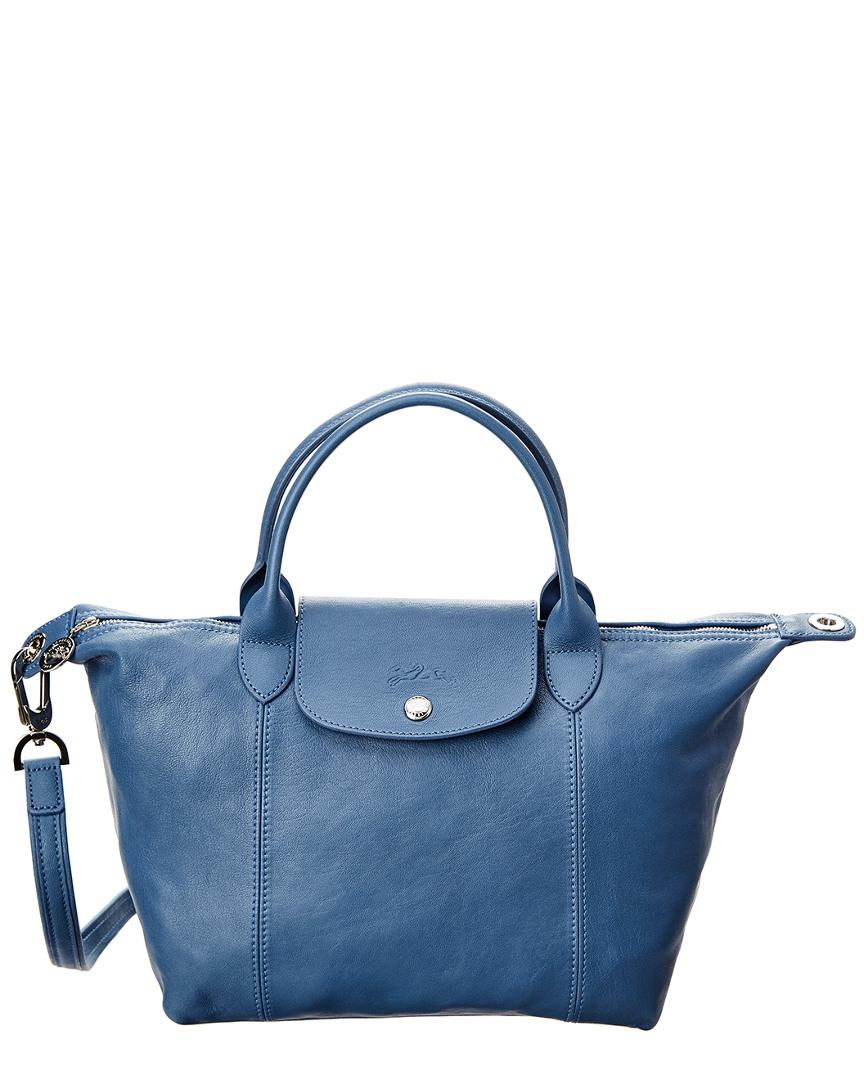 a52c3c4a24ba Lyst - Longchamp Le Pliage Cuir Small Leather Top Handle Tote in ...