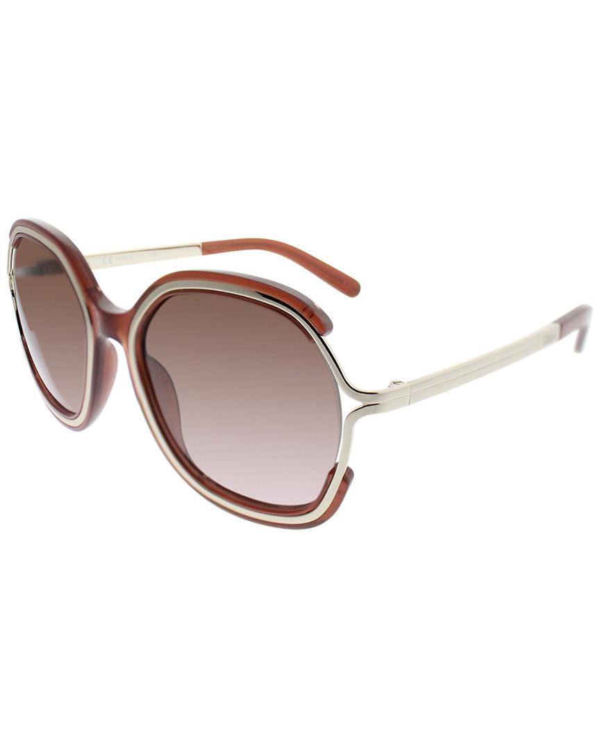 c5d564be24e Chloé Ce689s 54mm Sunglasses in Brown - Lyst