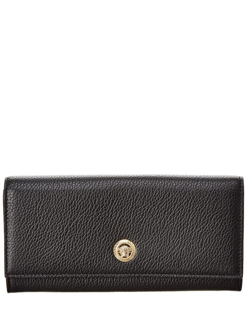 9a36c96607 Lyst - Versace Medusa Continental Leather Wallet in Black - Save 19%