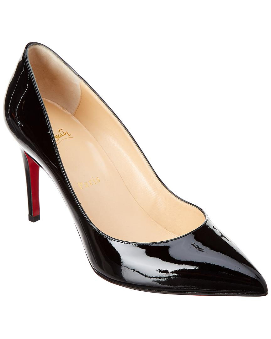 00006080443 Christian Louboutin Pigalle 85 Patent Pump in Black - Lyst