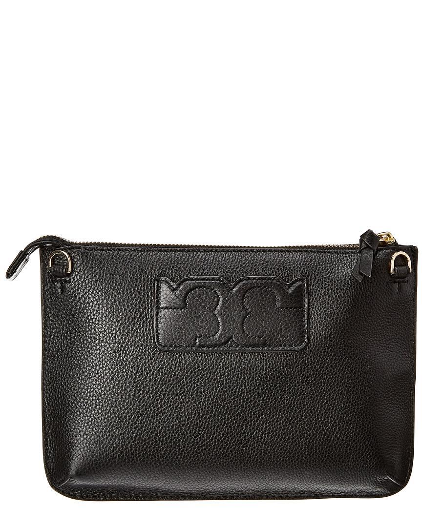 ff550654d54b Tory Burch Tassel Leather Crossbody in Black - Lyst