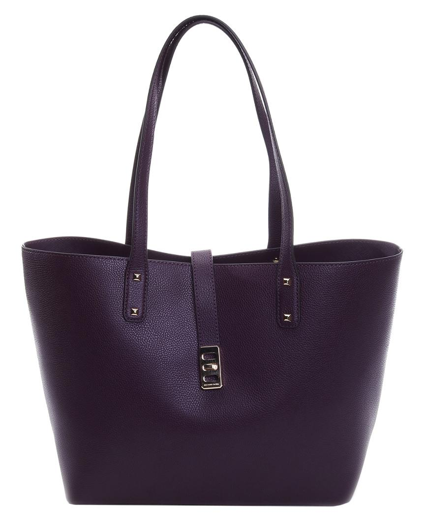 7085bb2580035 Michael Kors Karson Leather Tote in Purple - Lyst