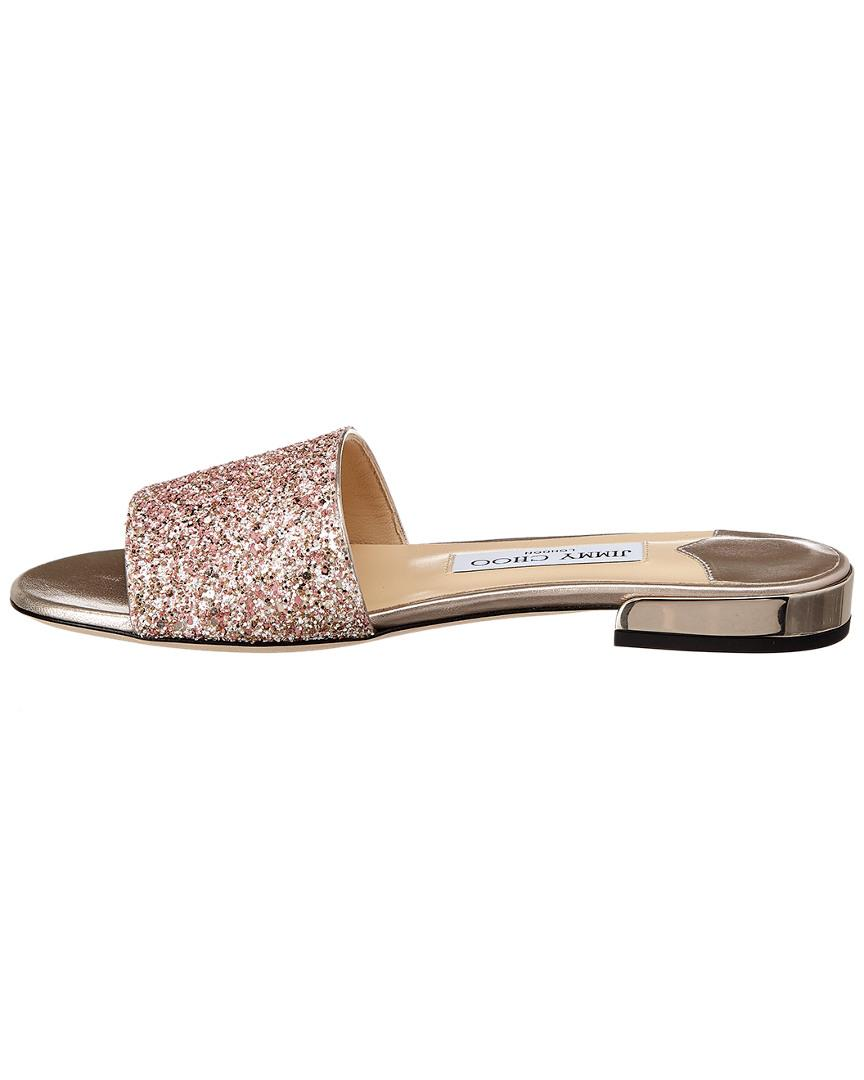 5748910b99c Lyst - Jimmy Choo Joni Glitter Slide in Pink - Save 25%